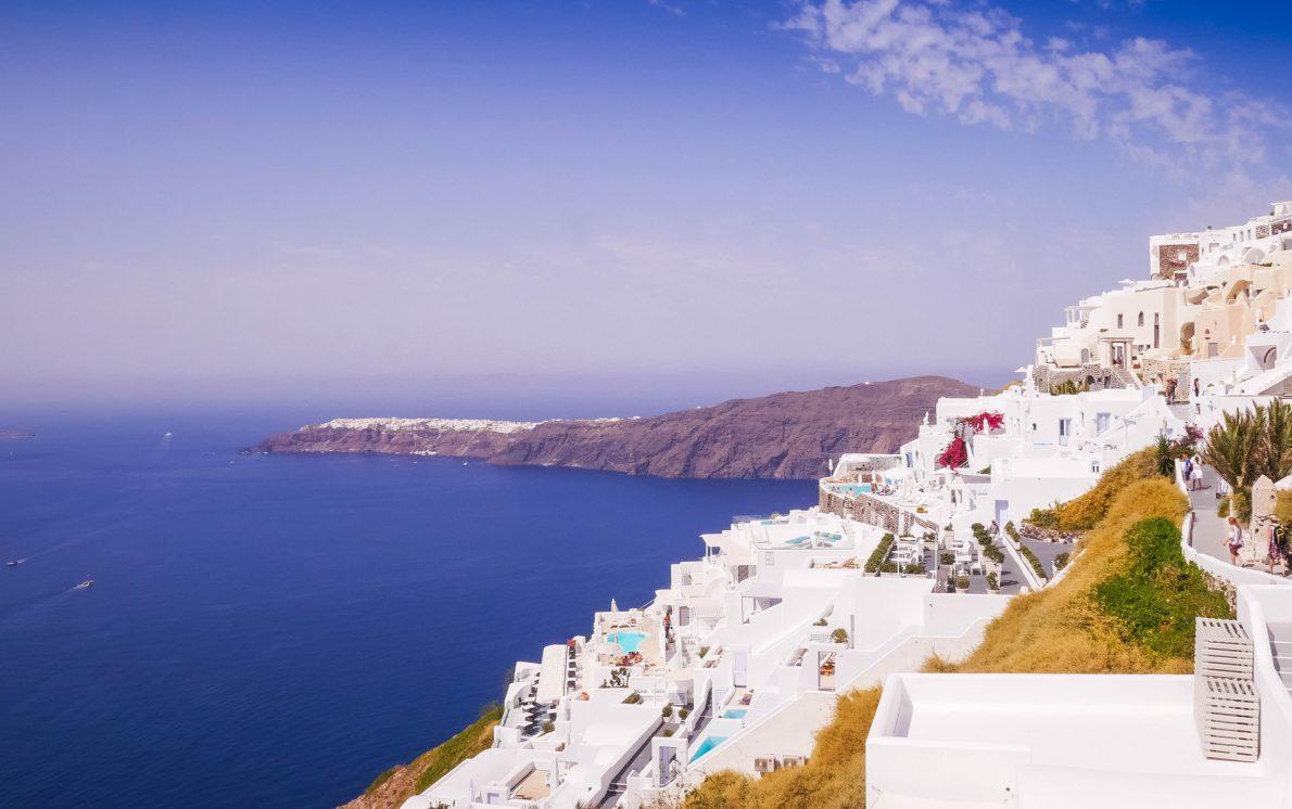 imerovigli white houses ocean views caldera santorini greece