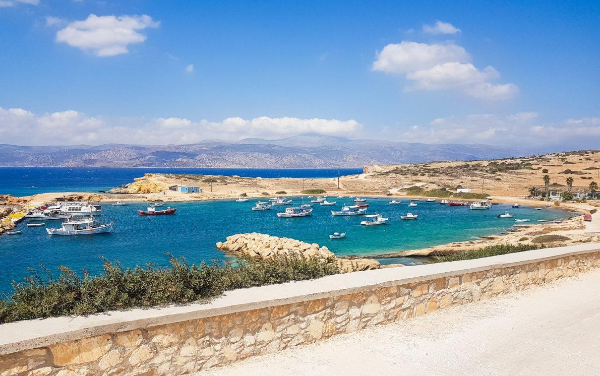 boats beach blue water koufonisi koufonissia greece