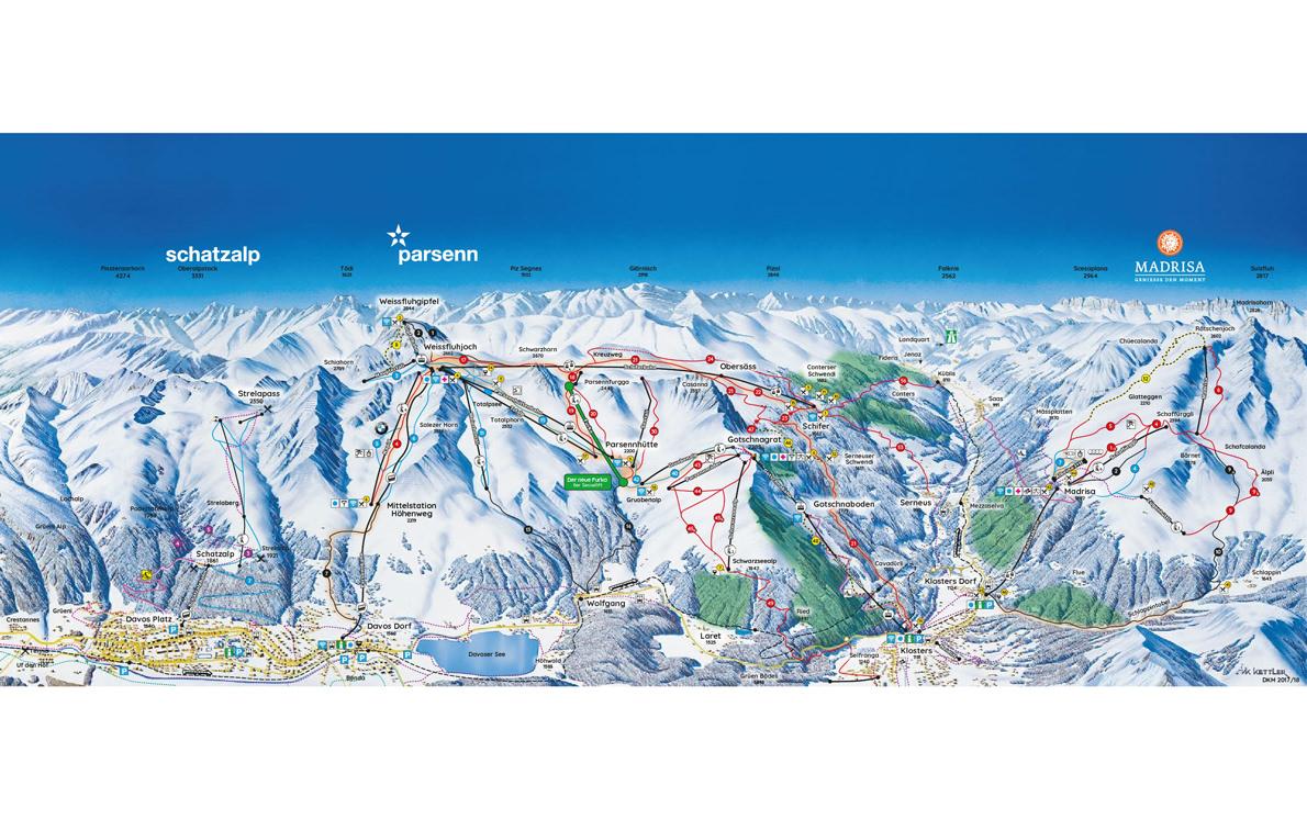 davos-klosters-parsenn ski map