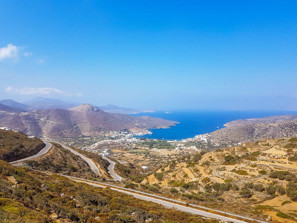 views katapola amorgos greece