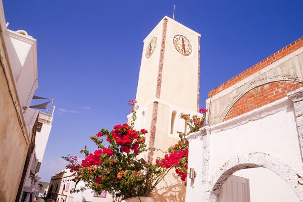 oia church caldera santorini greece