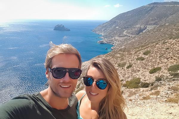 couple amorgos greece