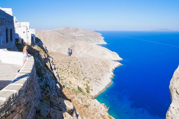 view over folegandros greece
