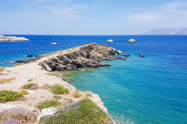 view over beach folegandros greece