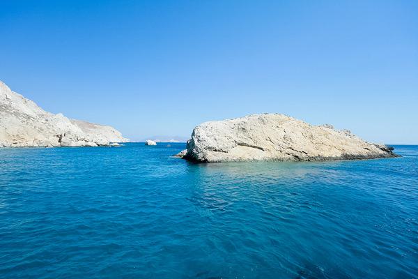 rock and ocean folegandros greece