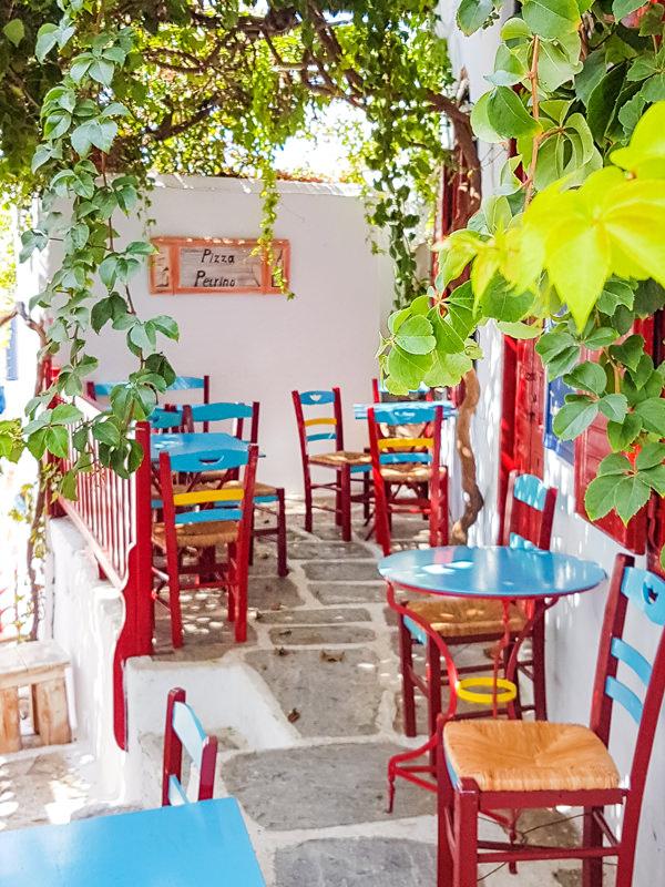 cute cafe amorgos greece