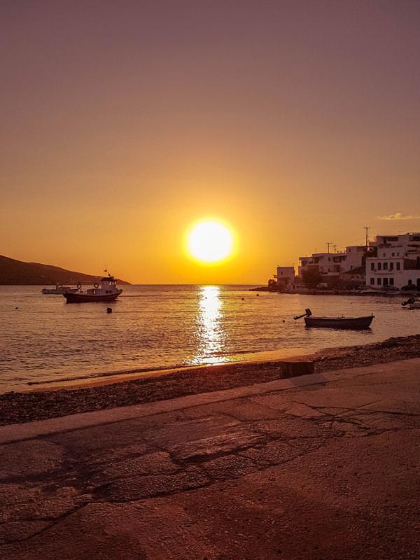 sunset katapola amorgos greece